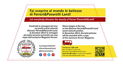 Let everybody discover the beauty of Ferrari Pavarotti&Land!